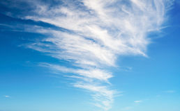 Blue sky with windy clouds Royalty Free Stock Photography