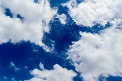 Blue sky wish cloud and son landsape background.  Royalty Free Stock Images