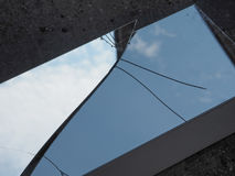 Free Blue Sky With Clouds Reflected On Broken Mirror Stock Image - 98063051