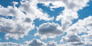 Blue sky with withe clouds in summer Stock Photos