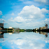 Blue sky in yekaterinburg Royalty Free Stock Images