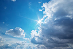 Blue skylight Stock Images