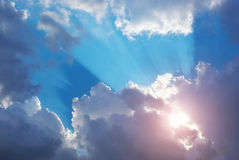 Blue skylight. Royalty Free Stock Photo