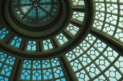 Blue skylight dome Stock Images