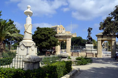 Blue skyline in Floriana,Malta Royalty Free Stock Photo