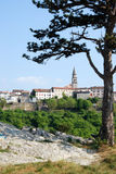 Blue skyline and panoramic view on Buzet,Croatia Stock Photography