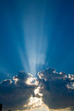 Blue skys clouds sunbeams #1 Stock Image