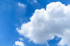 Blue Skyscape With Big White Cloud Stock Photos