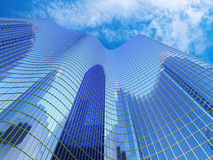 Blue Skyscraper Royalty Free Stock Photos
