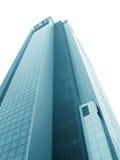 Blue skyscraper. Over white Stock Photography