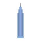Blue skyscraper cartoon Royalty Free Stock Photos