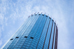 Blue skyscraper facade. office buildings. modern glass silhouettes of skyscrapers Royalty Free Stock Photography