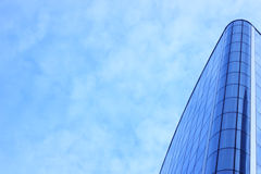 Blue skyscraper facade. office buildings. modern glass silhouettes of skyscrapers Royalty Free Stock Image