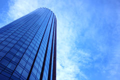 Blue skyscraper facade. office buildings. modern glass silhouettes of skyscrapers Stock Photo