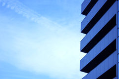 Blue skyscraper facade. office buildings. modern glass silhouettes of skyscrapers Royalty Free Stock Photos