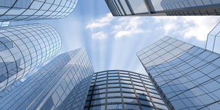 Blue Skyscrapers royalty free illustration
