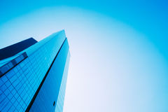 Blue Skyscrapers Background. Modern Architecture In Estonian Cap Stock Image