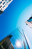 Blue Skyscrapers Background. Modern Architecture Stock Image