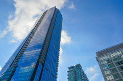 Blue skyscrapers Toronto downtown Royalty Free Stock Image