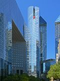 Blue skyscrappers in Paris Stock Images