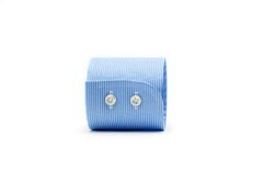 Blue sleeve cuff Stock Images