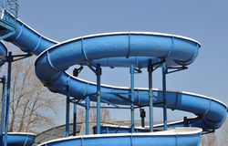 Blue slide Stock Photography