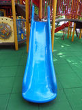 BLUE SLIDE FOR CHILDREN. Royalty Free Stock Photos