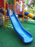 BLUE SLIDE FOR CHILDREN. Stock Images