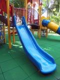 BLUE SLIDE FOR CHILDREN. Stock Images