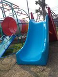 Blue slider Colourful playground for happiness kid times Stock Images