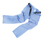 Blue slim male jeans isolated Stock Image