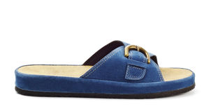 Blue slipper Stock Images