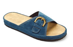Blue slipper Royalty Free Stock Images