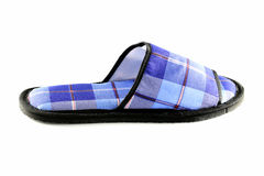 Blue Slippers isolated Royalty Free Stock Photography