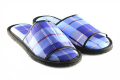 Blue Slippers isolated. Stock Image