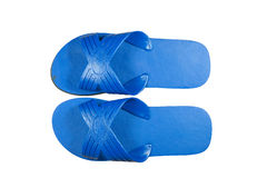 Blue slippers. Stock Images