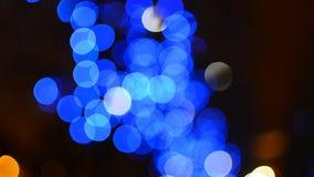 Blue slowly moving bokeh background Royalty Free Stock Photos
