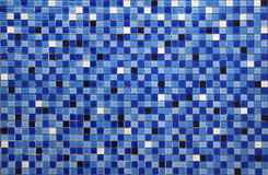 Blue small colorful tile Royalty Free Stock Photo
