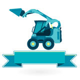 Blue small digger Royalty Free Stock Photography
