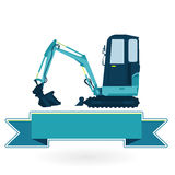 Blue small digger Stock Photography