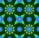 Blue small flowers seamless background Royalty Free Stock Image