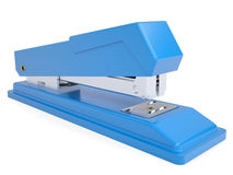 Blue small stapler. Isolated render on a white background Royalty Free Stock Images