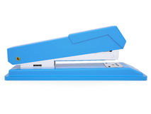 Blue small stapler. Isolated render on a white background Royalty Free Stock Photo