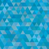 Blue small triangles background Royalty Free Stock Photos