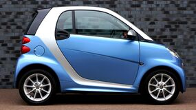 Blue Smart Fortwo Stock Photos
