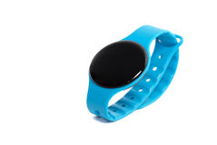 Blue smart watch close up isolated on white Stock Images