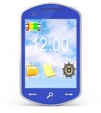 Blue smartphone Stock Photos