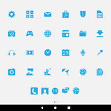 Blue Smartphone Apps and Icons Royalty Free Stock Image