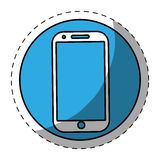 Blue smartphone button icon image. Illustration icon Royalty Free Stock Images
