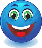 Blue smiley smiles Royalty Free Stock Image